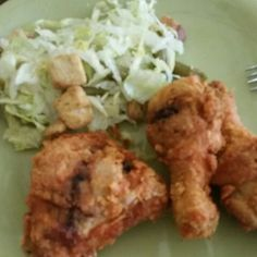Chicken with salad.