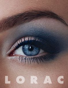 Smoky blue eyes using the Pro Palette 2 from @LORAC Cosmetics will add beauty and intensity to any look. #PROPalette2