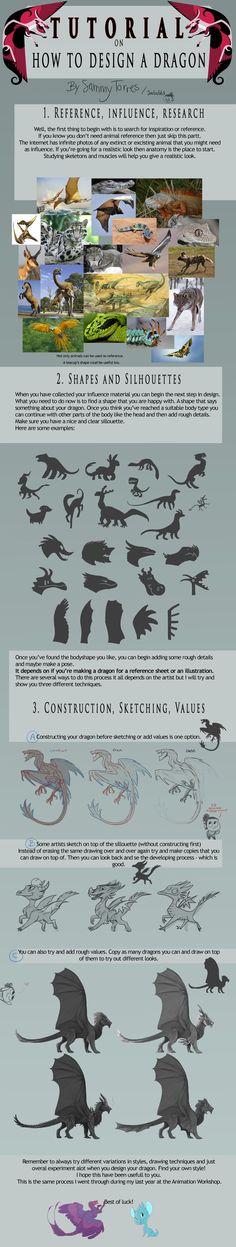 TUTORIAL: How to Design a Dragon by SammyTorres on deviantART