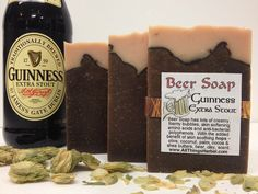 Guinness Beer Soap - Handmade, Natural - looks like a mug of beer - Perfect Gift for the Beer Lover. $6.00, via Etsy.