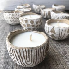 othing like some freshly poured candles. The studio smells amazing! I'm not listing these- saving them for DIYipsi at the end of the month Diy Clay, Clay Crafts, Clay Candle Holders, Etsy Co, Pottery Handbuilding, Unique Candles, Candle Making, Soy Candles, Ceramic Pottery