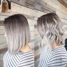 We can't get enough silver! On pre lightened level 9 hair, Jeffrey Robert used (base) #KenraColor Demi-permanent 4A, 7SM + 10 volume. Midstrand:  8SM + 10 volume. Ends: 10SM + 10 volume.  #MetallicObsession