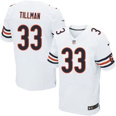 129.99 Men s Nike Chicago Bears  33 Charles Tillman Elite White Jersey 987b1d8d8