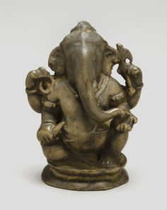 Ganesha Artist/maker unknown, Indian Geography: Made in Tamil Nadu, India, Asia Date: c. Ganesha Painting, Buddha Painting, Ganesha Art, Sri Ganesh, Buddha Sculpture, Lion Sculpture, Asian Gallery, Ganesh Statue, Ganesha Pictures