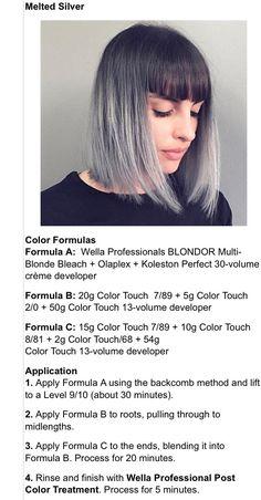 Silver White Hair, Covering Gray Hair, Hair Color Formulas, Colored Hair Tips, Hair Magazine, Hair Photo, About Hair, Hair Hacks, Dyed Hair