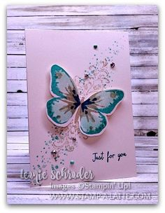 Timeless Wings . the last card from my Techniques To Go Class on Layered Stamping and a sweet 2 step stamping card using Watercolour Wings and Timeless Textures - more deets on the blog ‪#‎stampalatte‬ ‪#‎stampinup‬ ‪#‎2stepstamping‬ ‪#‎techniquetogo‬ ‪#‎watercolorwings‬ ‪#‎timelesstextures‬