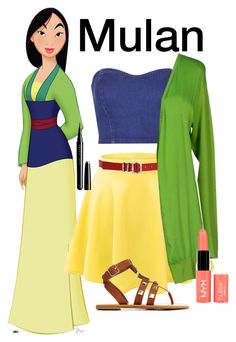 """DisneyBound- Mulan"" by gracethenerd3 ❤ liked on Polyvore featuring Topshop, DeWitt, Jimmy Choo, LO not EQUAL, NYX, Charlotte Russe, Marc, disneybound, nerdlife and gracethenerd3"