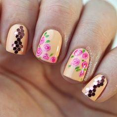 65 Ideas for hair pink rose nail art Rose Nail Art, Rose Nails, Pink Nails, Glitter Nails, Beautiful Nail Designs, Cute Nail Designs, Get Nails, Hair And Nails, Diamante Nails