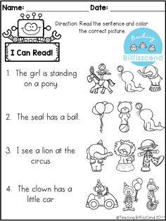 Reading comprehension activities! Great for kindergarten, first grade or ESL students.