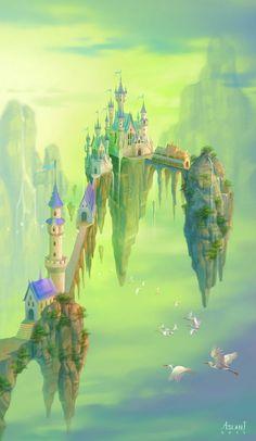 Castle of Prince Heron by ~ninejear on deviantART