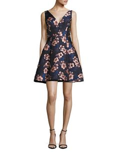 Women | Women  | Floral Jacquard Fit-and-Flare Dress | Hudson's Bay