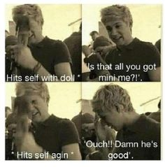 One Directions Niall Horan....lol i could see myself doing something like this...