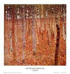 Gustav Klimt, Forest of Beech Trees, Dresden, Galerie Neue. Klimt Art, Gustav Klimt, Buy Posters, Cool Posters, Wall Candy, Tree Art, Amazing Nature, Framed Artwork, Find Art