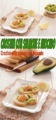 Crostini con salmone e avocado, crostini senza cottura, crostini estivi, crostini sfiziosi, crostini veloci, crostini salmone affumicato, crostini salmone e avocado, Crostini with salmon and avocado, croutons without cooking, summer crostini, tasty croutons, quick croutons, smoked salmon croutons, salmon croutons and avocado #cucina #ricette #recipes #salmone #crostini #fingerfood Healthy Weeknight Dinners, Friend Recipe, Yummy Food, Tasty, Other Recipes, Fresh Rolls, Finger Foods, Mamma, Ethnic Recipes
