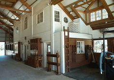 horse barns with living quarters    LOVE this. can see in barn easily. fabulous. this is how i picture the barn refurbished.