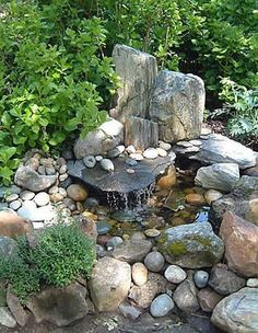 Mini Garden Water Features  ~ custom made items  by talented makers. Phone: (530) 274-2113, Charlie Brown's Homework