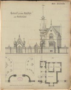 Parkeingang. Monatskonkurrenz Oktober 1883   unbek. Architekt