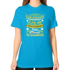 Devannation Unisex T-Shirt (on woman)