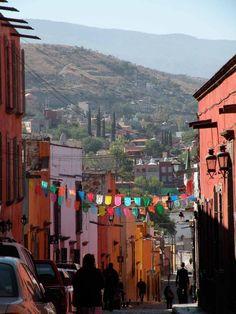 Quebrada en San Miguel de Allende, Mexico