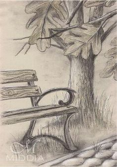 Middia Lenormand Project started III 2015 Garden Ogr d Pencil Drawing # Art Drawings Beautiful, Cool Art Drawings, Pencil Art Drawings, Art Drawings Sketches, Easy Drawings, Pencil Sketches Landscape, Landscape Drawings, Pencil Sketches Of Nature, Drawing Landscapes Pencil