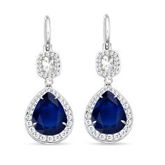 round sapphire earrings - Google Search