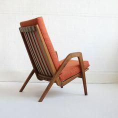 A. Kopacek; Teak Lounge Chair, 1950s.