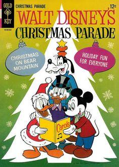 WALT DISNEY'S CHRISTMAS PARADE #3 Very Good, Mickey, Goofy, Gold Key Comics 1964