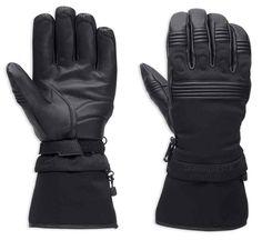 Harley-Davidson® Men's Tenino Convertible Cuff Windproof Gloves 97381-17VM - Wisconsin Harley-Davidson