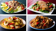 5 High Protein Lunch Ideas For Weight Loss - Body Fat Videos - Kalorienarme Rezepte Healthy Recipes On A Budget, Easy Salad Recipes, Delicious Vegan Recipes, Lunch Recipes, Healthy Dinner Recipes, Protein Recipes, High Protein Lunch Ideas, Chicken Slices, Healthy Groceries
