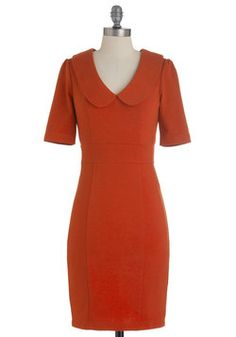 Hold, Please Dress in Deep Rust - Such clean lines in such a great color!