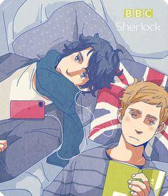 Sherlock and John,. So adorable.