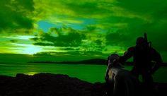 he-man-overlooking-eternia with cringer www.nealswansonart.com