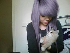 Pretty purple-grey hair ♡