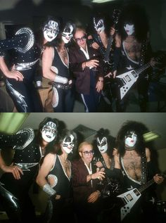 Ace Frehley Peter Criss Elton John Gene Simmons and Paul Stanley 1976 | Rare and beautiful celebrity photos