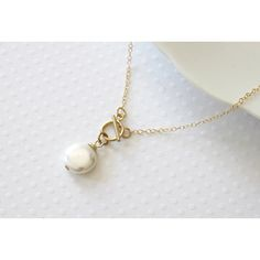 Front Closure Necklace, Gold Filled Toggle Clasp, Coin Pearl Necklace,... (£22) ❤ liked on Polyvore featuring jewelry, necklaces, coin pearl jewelry, coin pearl necklace, pearl necklace, coin jewelry and pearl jewellery