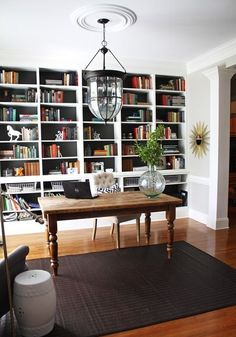 finished office makeover. 29 builtin bookshelves ideas for your home digsdigs finished office makeover a