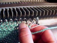 Turning your knitting without a garter bar by Using a stiff Wire
