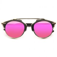 Cheap Designer Inspired Sunglasses | So Real 2 Thin Bar Color Mirror Flat Top Sunglasses | BleuDame.com