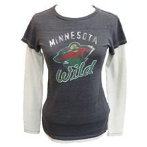 MN Wild women's long sleeve tee