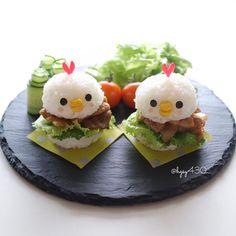 Yakiniku chicken rice burgers by yuka (@hgsy430)