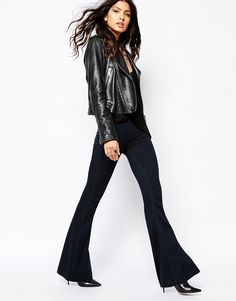 Blank NYC Pull On Bell Bottom Flare Jeans