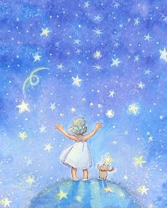art by becky kelly images | Reach for the Stars print by Becky Kelly | Children's Art Prints