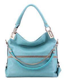 Loving this Light Blue Twister Shoulder Bag on #zulily! #zulilyfinds