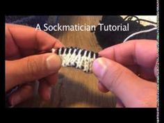 A Sockmatician Tutorial - Two-Colour Alternating Invisible Cast On for Double-Knitting in the Round - YouTube