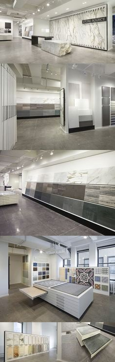 Stone Source New York Showroom Kitchen Showroom, Tile Showroom, Showroom Design, Furniture Showroom, Interior Design, Showroom Ideas, Table Furniture, Bureau Design, Commercial Design