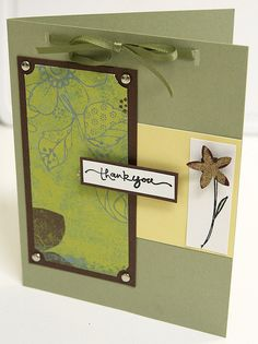 Card Making - Thank You by Xtina L, via Flickr