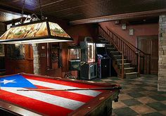 Puerto Rico Flag Billiards Cloth