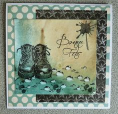 "Les Bistre et les ""Doc Martens Boots"" Journal D'art, Copic, Art Carte, Doc Martens Boots, Shabby Chic Cards, Paint Cards, Handmade Tags, Beautiful Handmade Cards, Paper Artist"