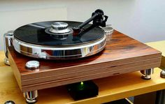 High end audio turntable.