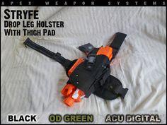 Custom NERF Gear Stryfe Holster Drop Leg by apexweaponsystems